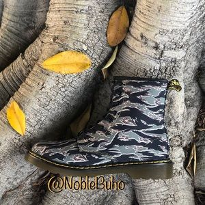 Dr Martens 1460 Camo Jungle Green Boots NEW